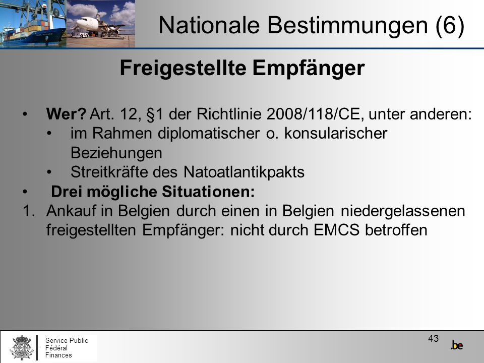Nationale Bestimmungen (6)