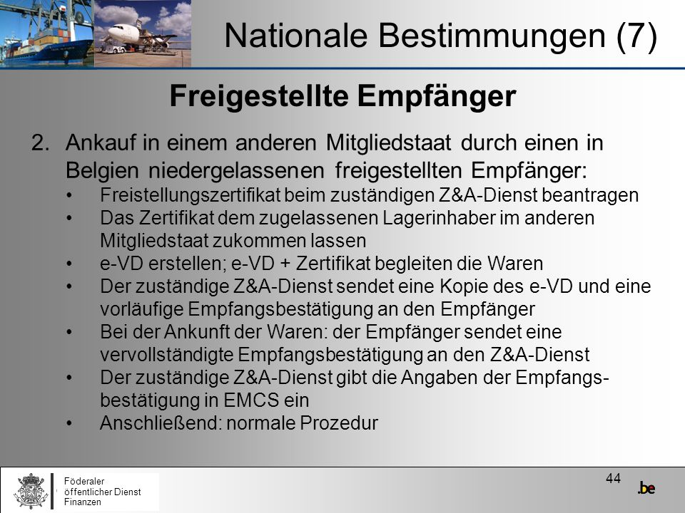 Nationale Bestimmungen (7)