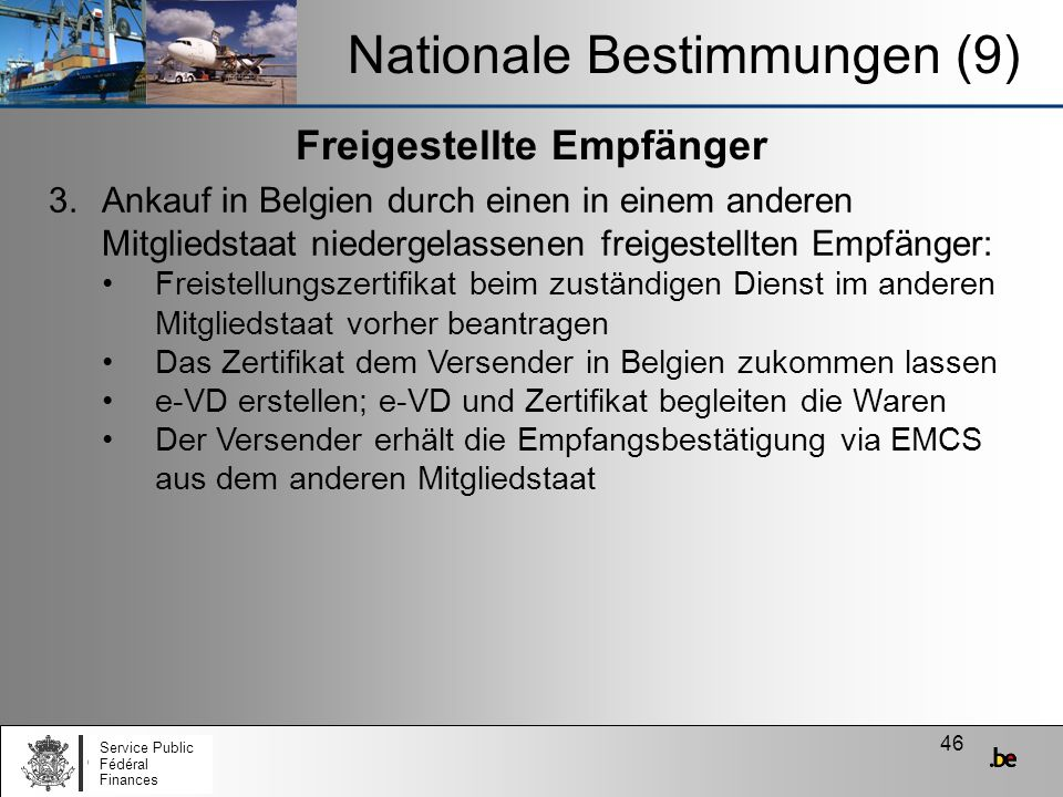 Nationale Bestimmungen (9)