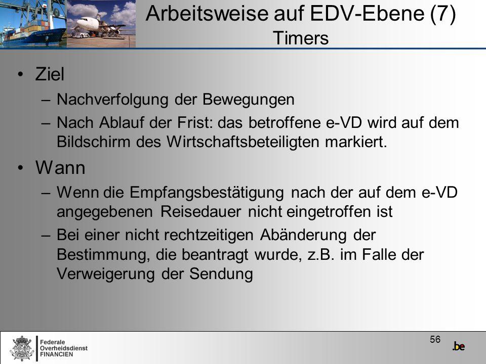 Arbeitsweise auf EDV-Ebene (7) Timers