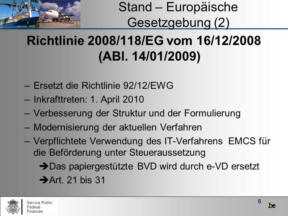 Stand – Europäische Gesetzgebung (2)
