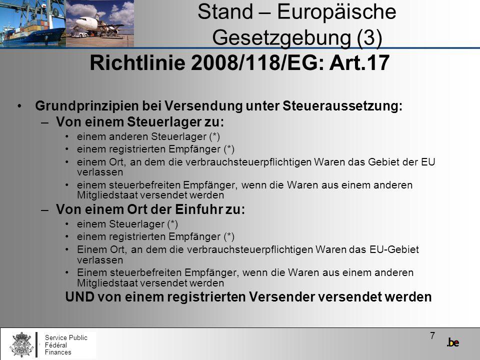 Stand – Europäische Gesetzgebung (3)