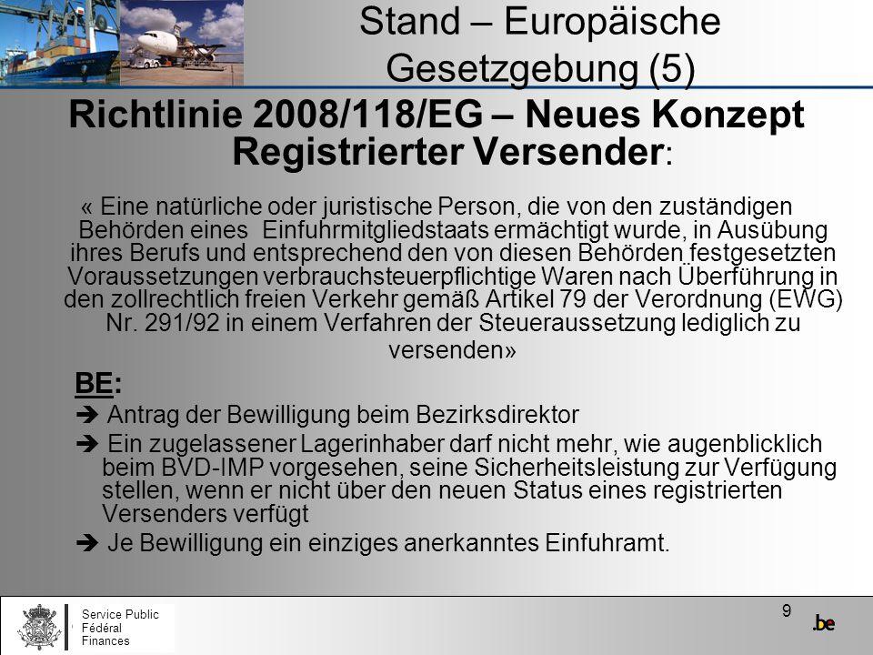 Stand – Europäische Gesetzgebung (5)