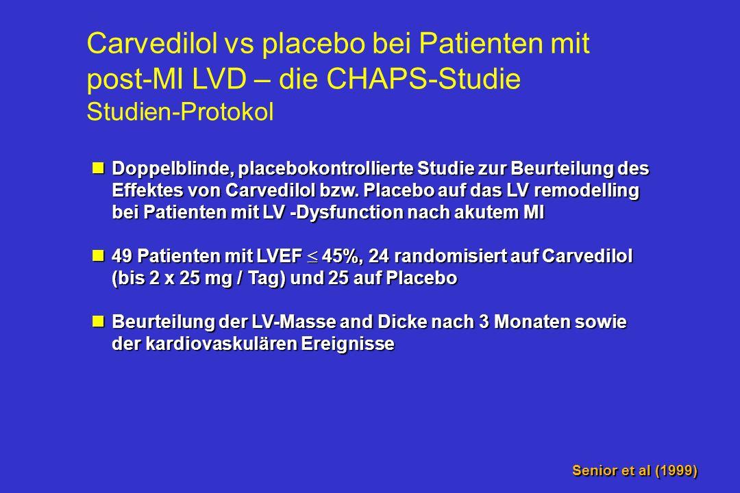 Carvedilol vs placebo bei Patienten mit post-MI LVD – die CHAPS-Studie Studien-Protokol