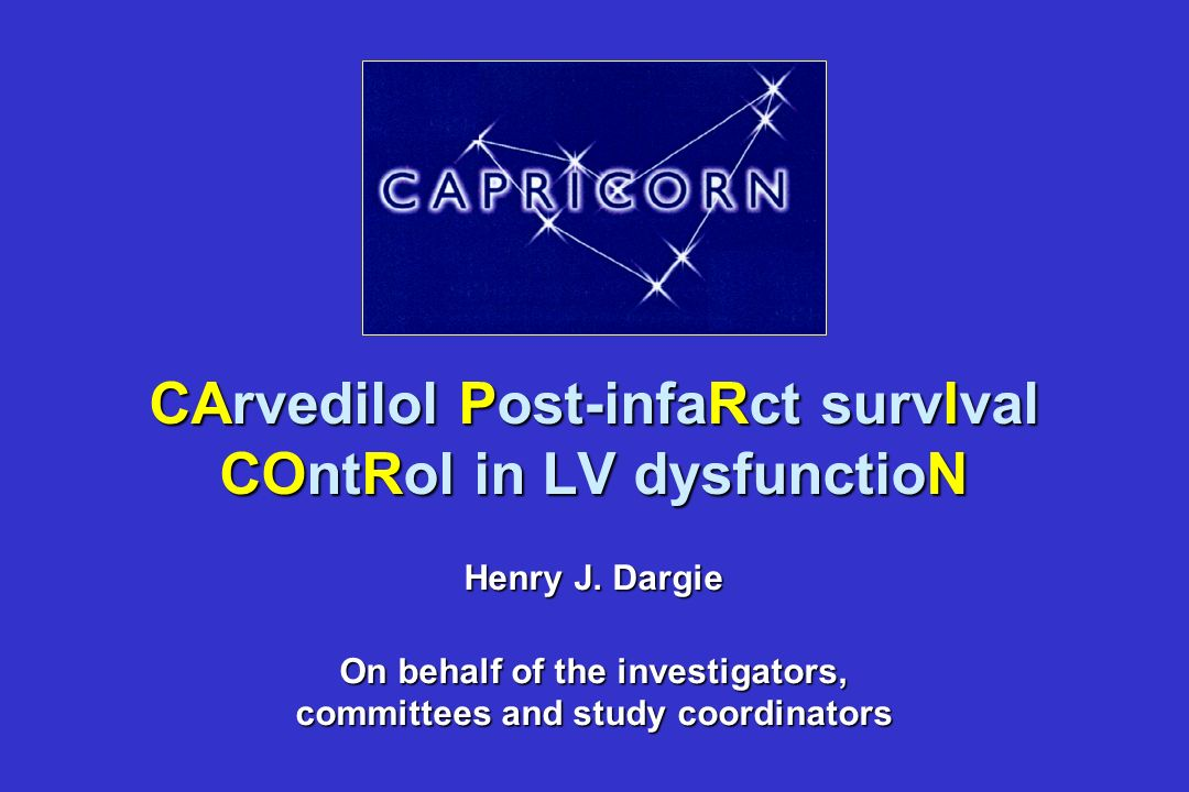 CArvedilol Post-infaRct survIval COntRol in LV dysfunctioN