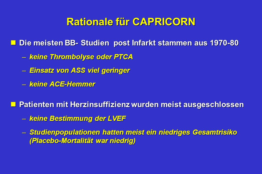 Rationale für CAPRICORN