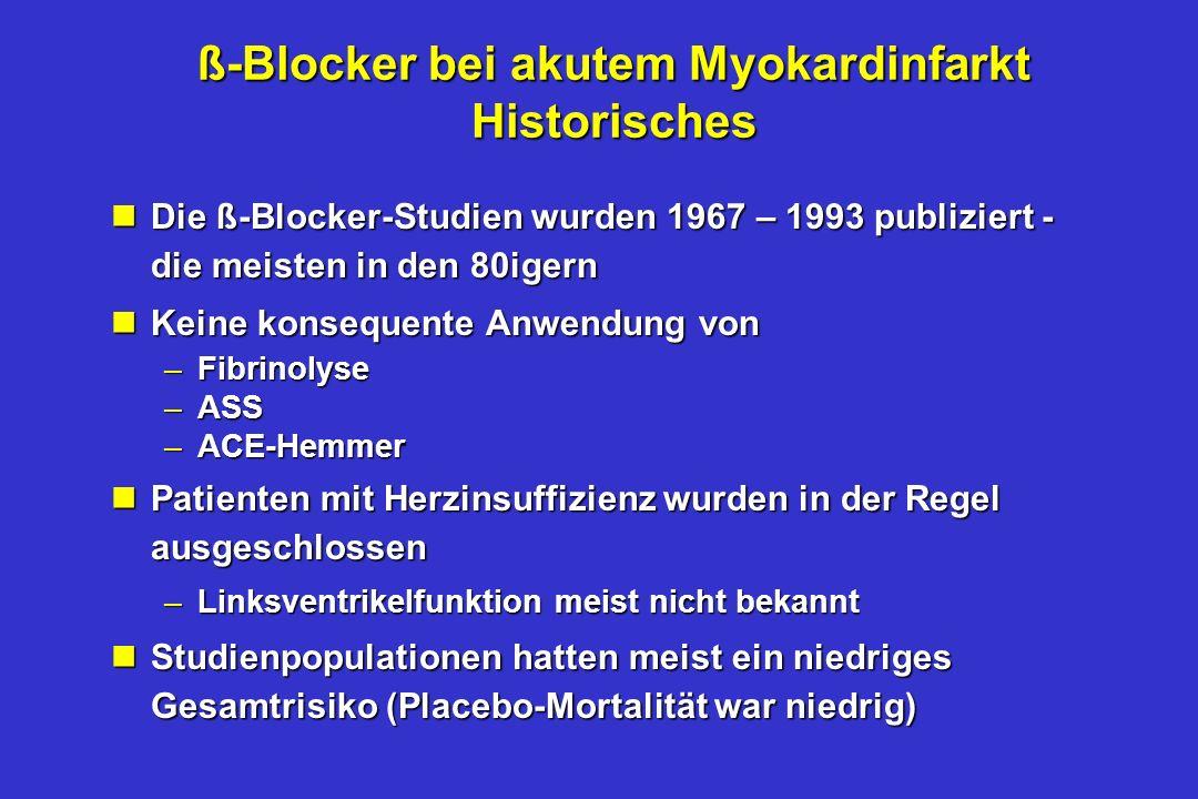 ß-Blocker bei akutem Myokardinfarkt Historisches