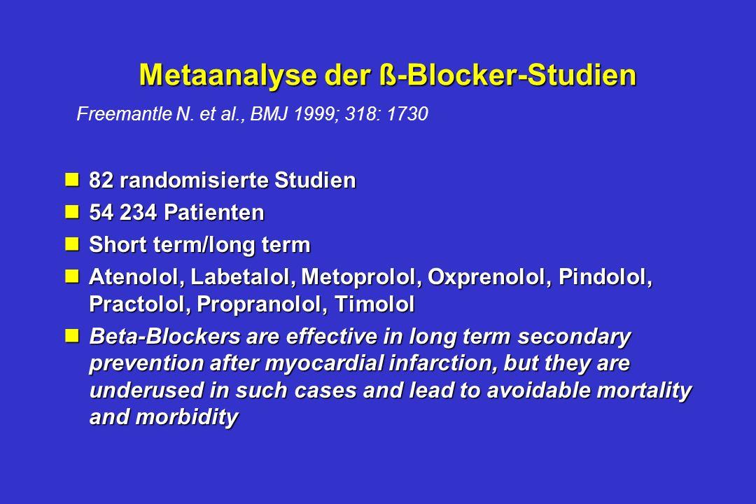 Metaanalyse der ß-Blocker-Studien