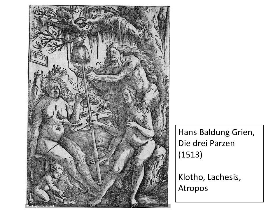 Hans Baldung Grien, Die drei Parzen (1513)