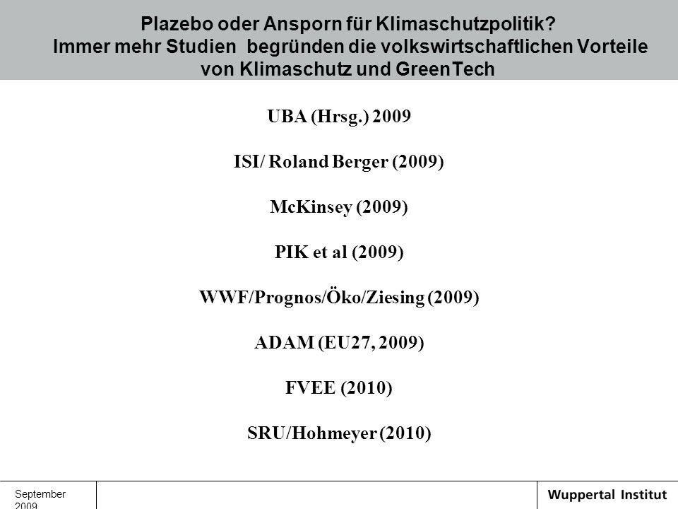 WWF/Prognos/Öko/Ziesing (2009)