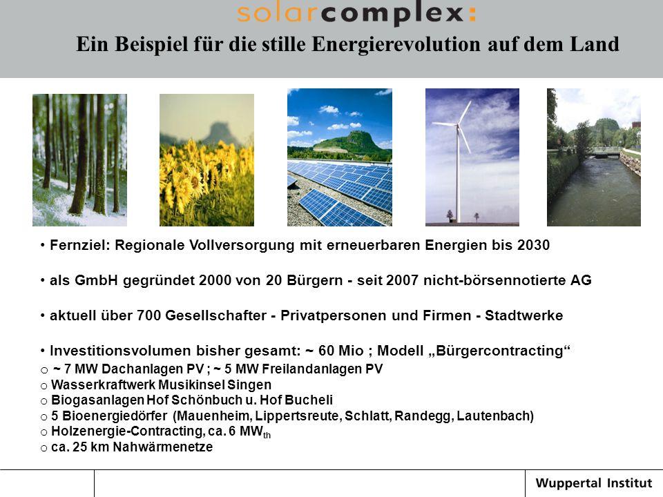 Ein Beispiel für die stille Energierevolution auf dem Land