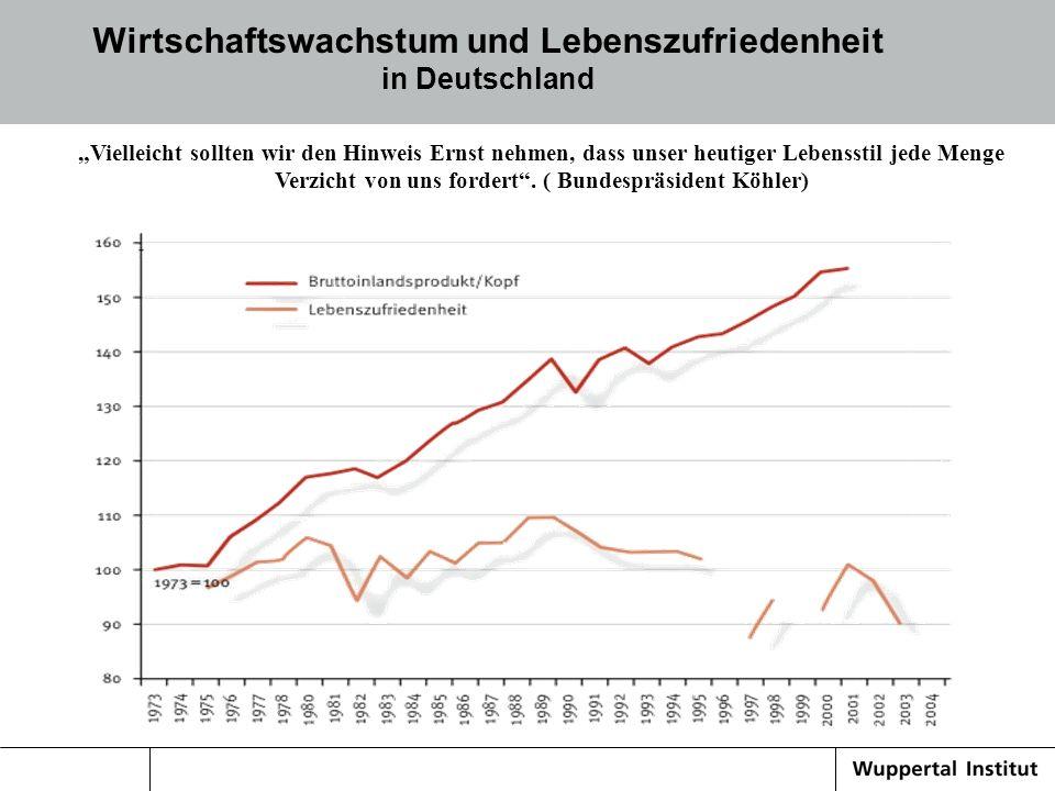 Wirtschaftswachstum und Lebenszufriedenheit in Deutschland