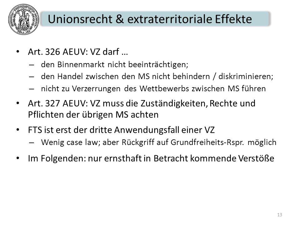 Unionsrecht & extraterritoriale Effekte