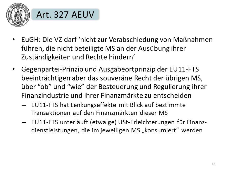 Art. 327 AEUV