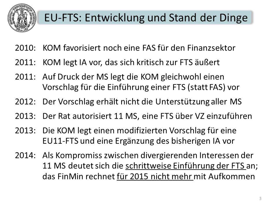 EU-FTS: Entwicklung und Stand der Dinge
