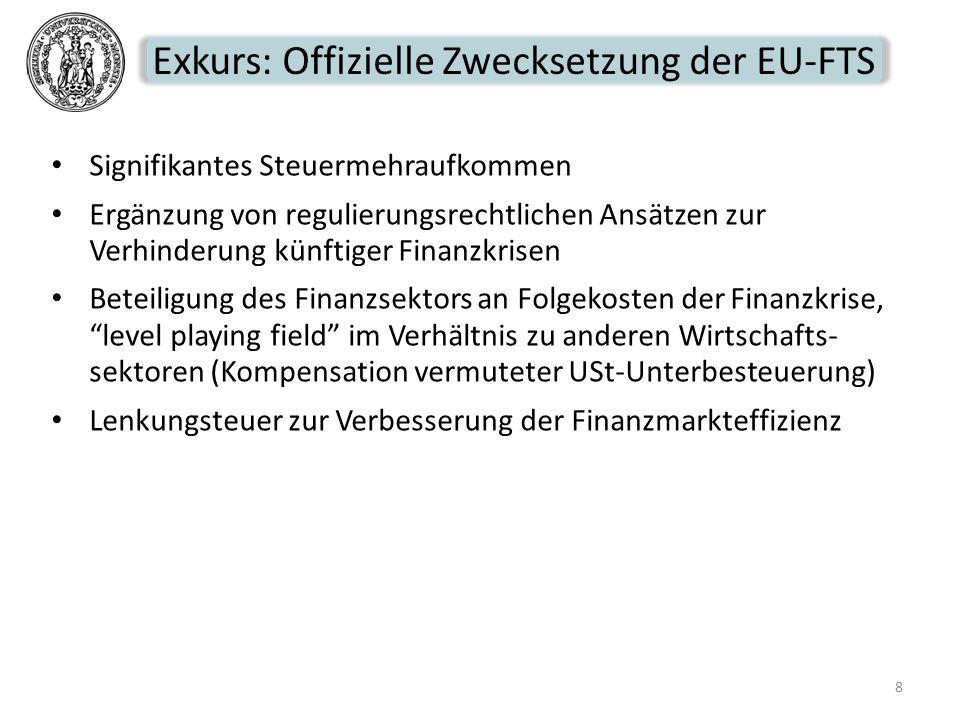 Exkurs: Offizielle Zwecksetzung der EU-FTS