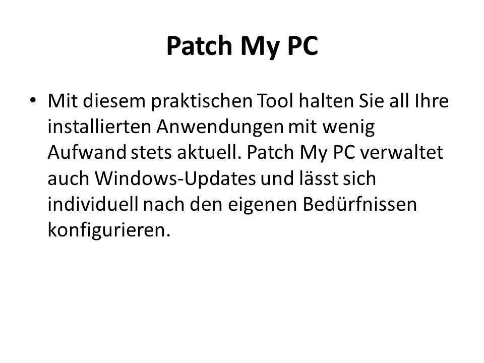 Patch My PC