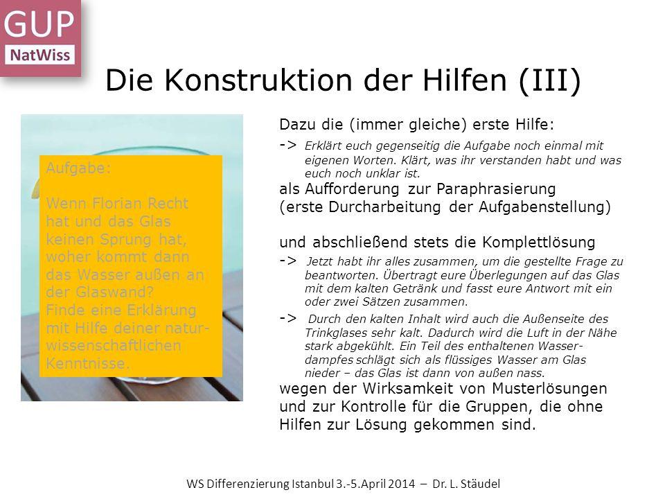Die Konstruktion der Hilfen (III)