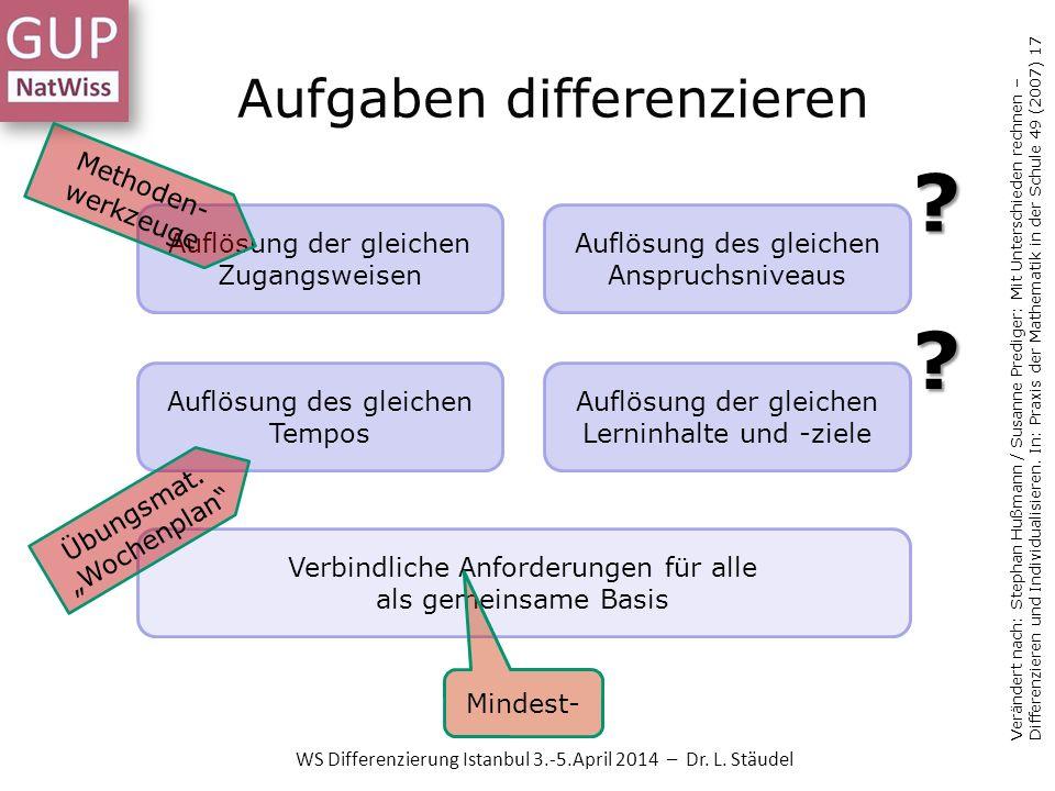 Aufgaben differenzieren