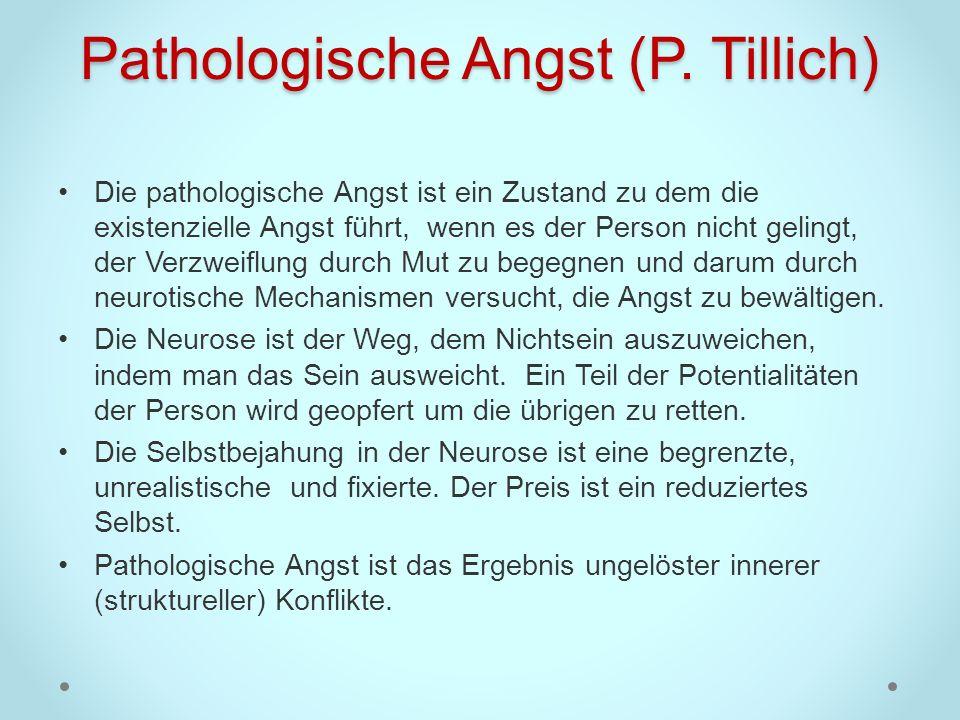 Pathologische Angst (P. Tillich)
