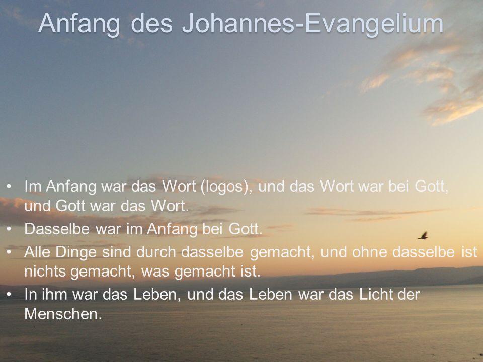 Anfang des Johannes-Evangelium