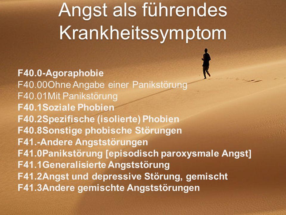 Angst als führendes Krankheitssymptom