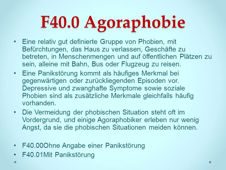 F40.0 Agoraphobie