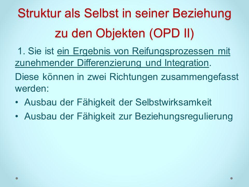 Struktur als Selbst in seiner Beziehung zu den Objekten (OPD II)