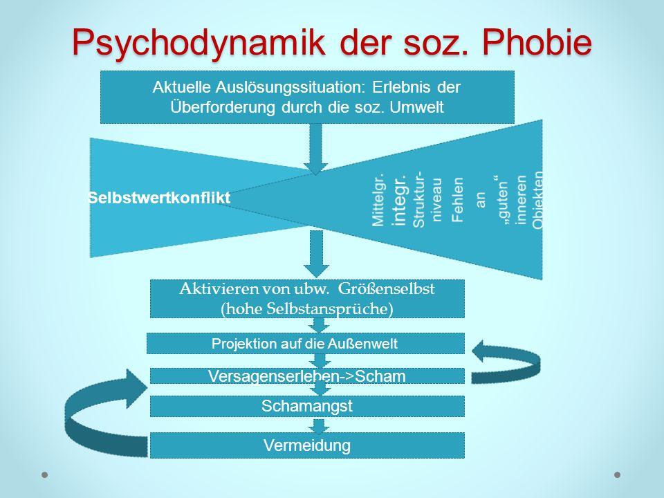 Psychodynamik der soz. Phobie