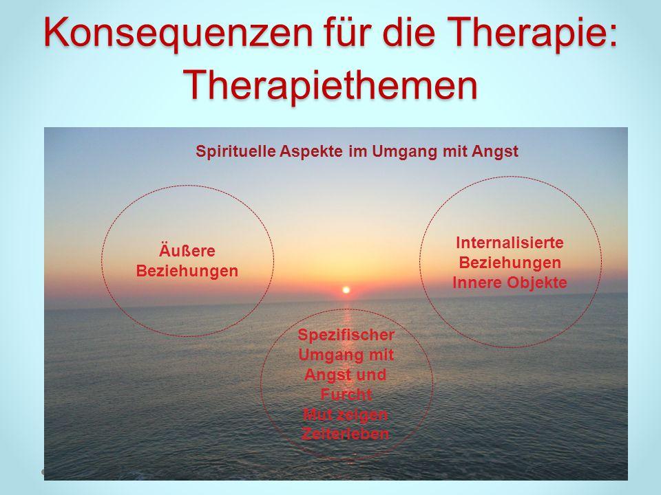 Konsequenzen für die Therapie: Therapiethemen