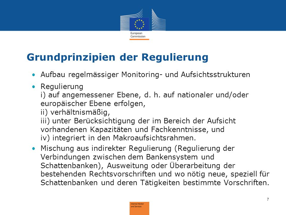 Grundprinzipien der Regulierung