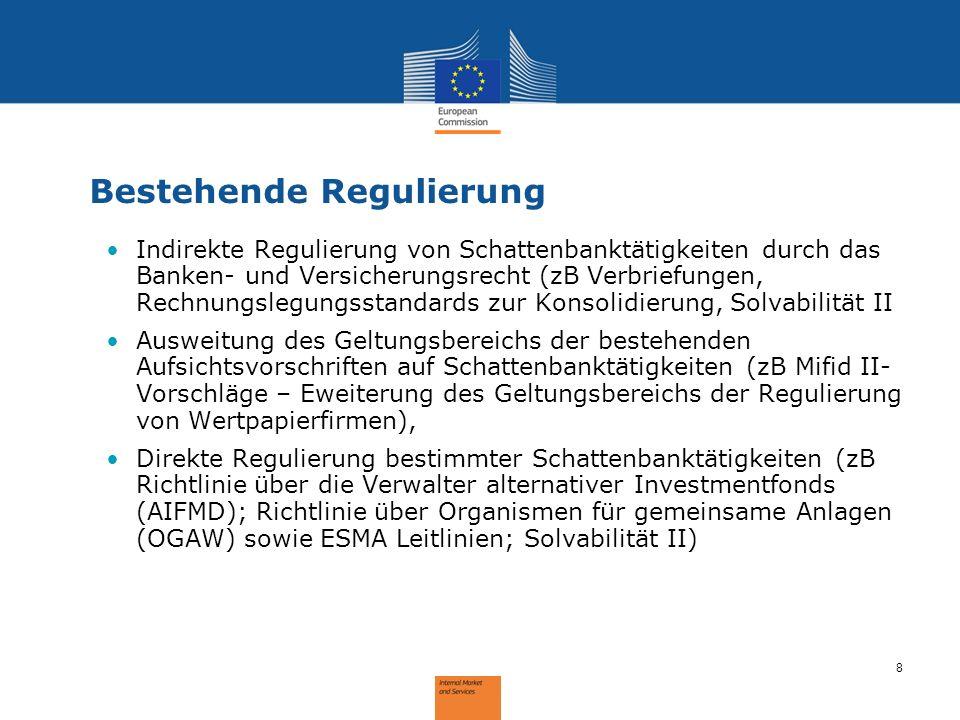 Bestehende Regulierung