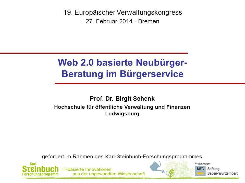 Web 2.0 basierte Neubürger-Beratung im Bürgerservice