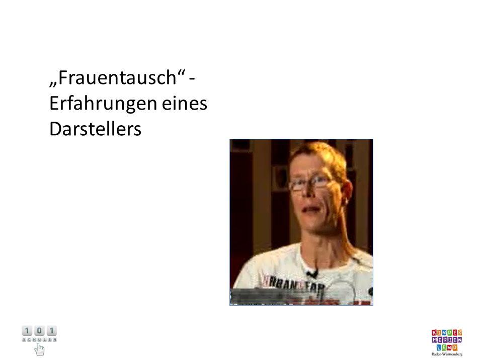 """""""Frauentausch - Erfahrungen eines Darstellers"""