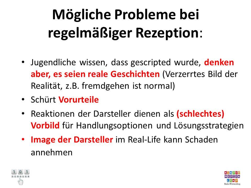Mögliche Probleme bei regelmäßiger Rezeption: