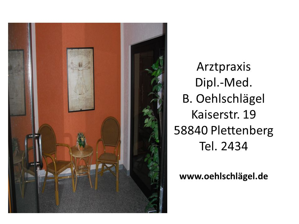 Arztpraxis Dipl. -Med. B. Oehlschlägel Kaiserstr
