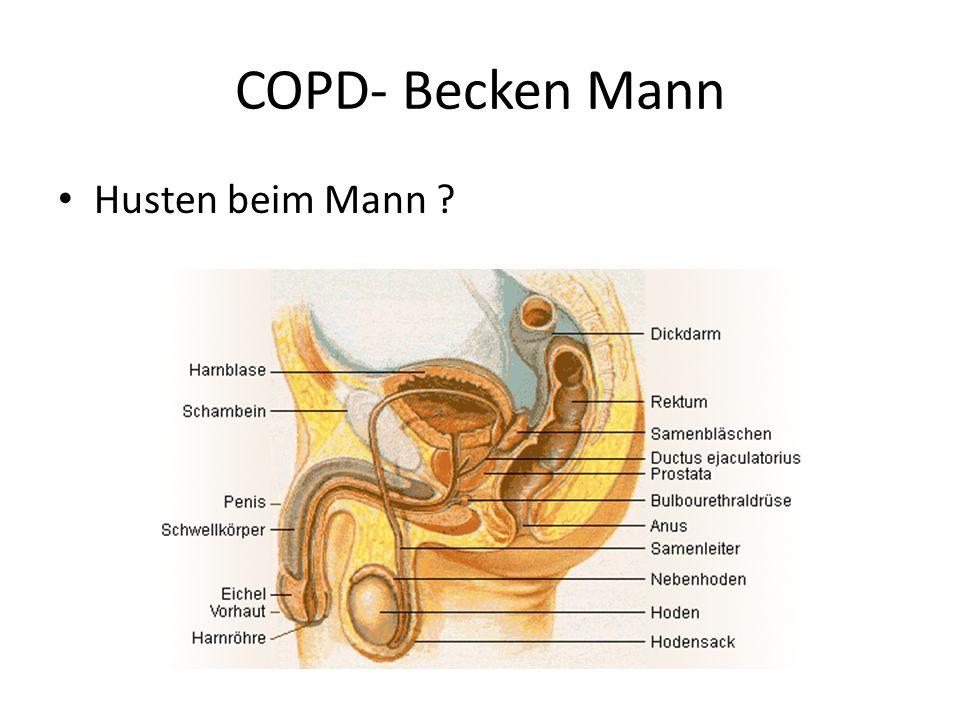 COPD- Becken Mann Husten beim Mann