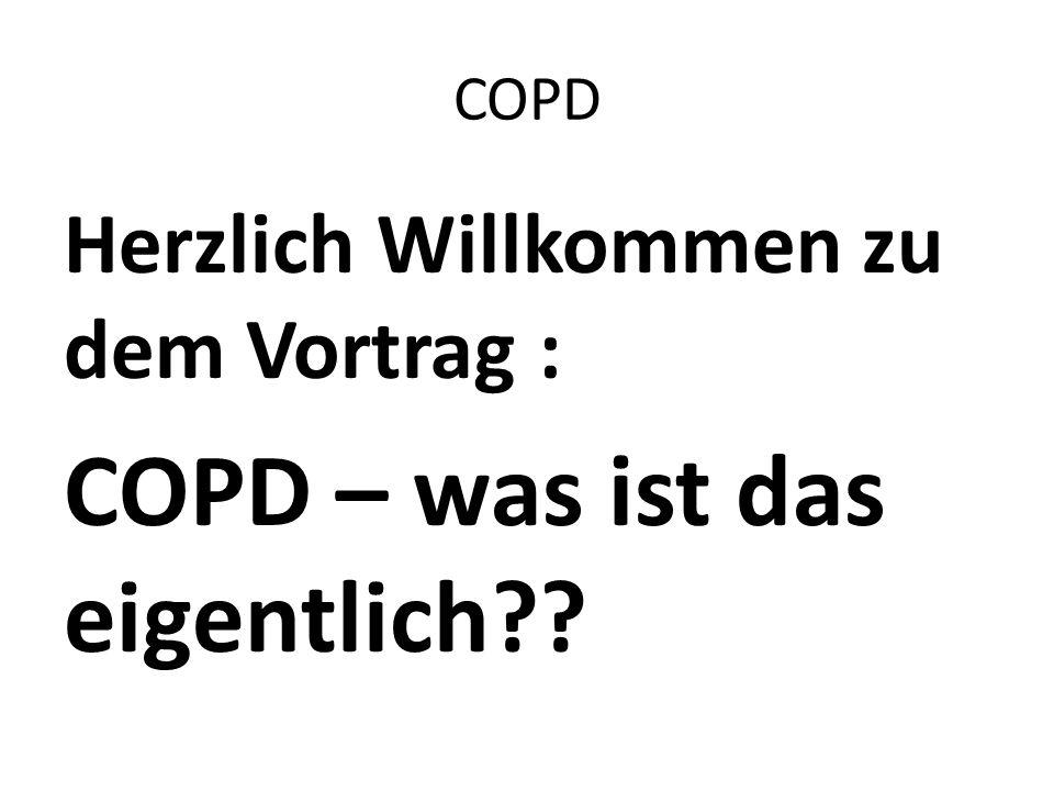 COPD – was ist das eigentlich