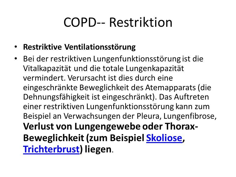 COPD-- Restriktion Restriktive Ventilationsstörung