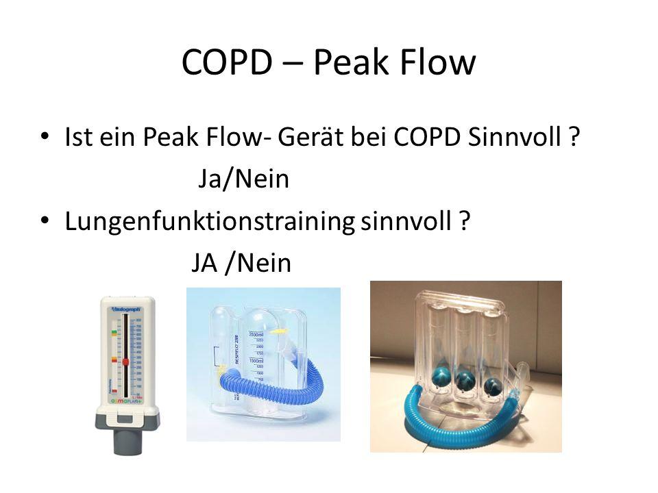 COPD – Peak Flow Ist ein Peak Flow- Gerät bei COPD Sinnvoll Ja/Nein