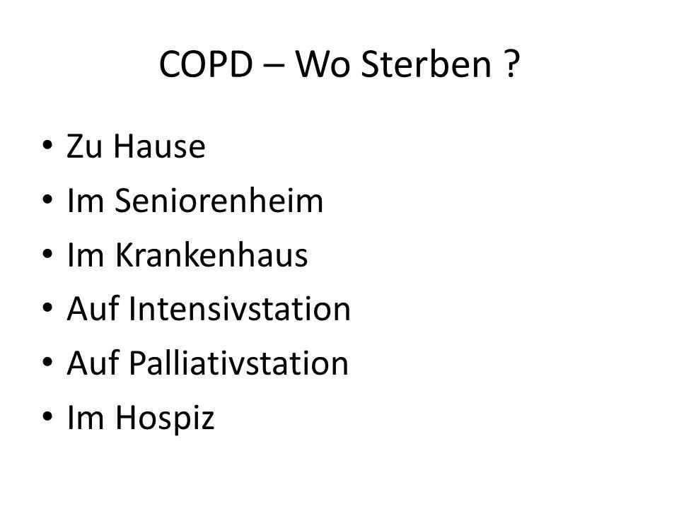 COPD – Wo Sterben Zu Hause Im Seniorenheim Im Krankenhaus