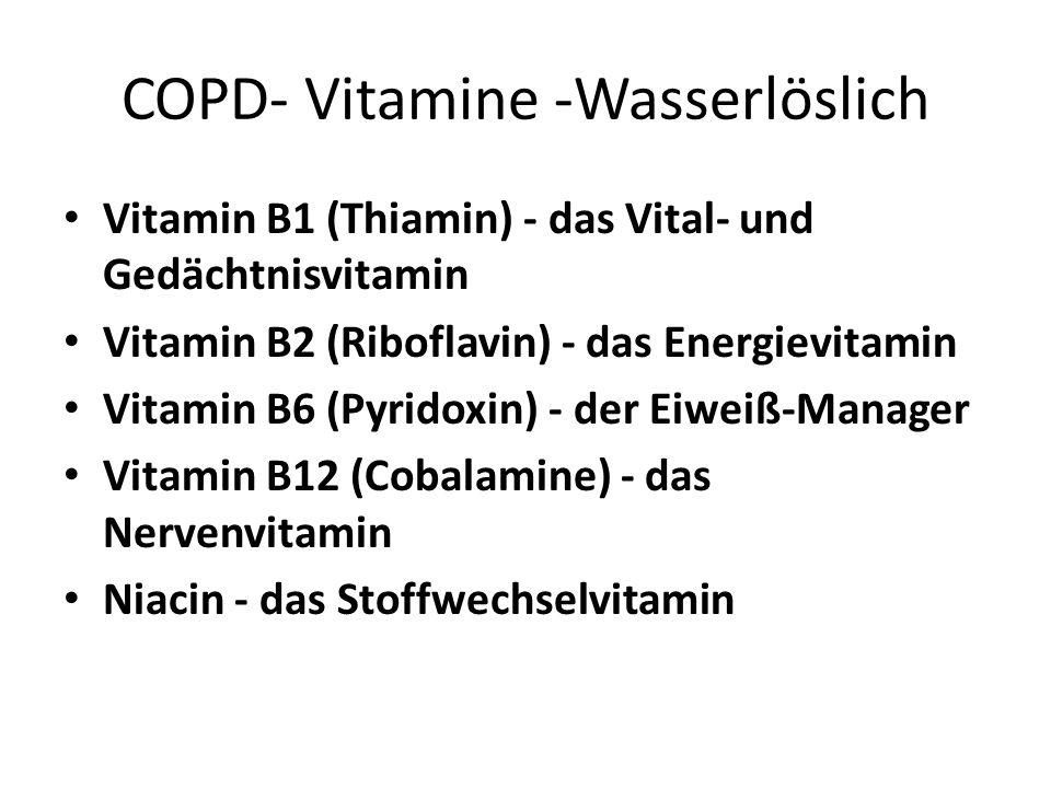 COPD- Vitamine -Wasserlöslich