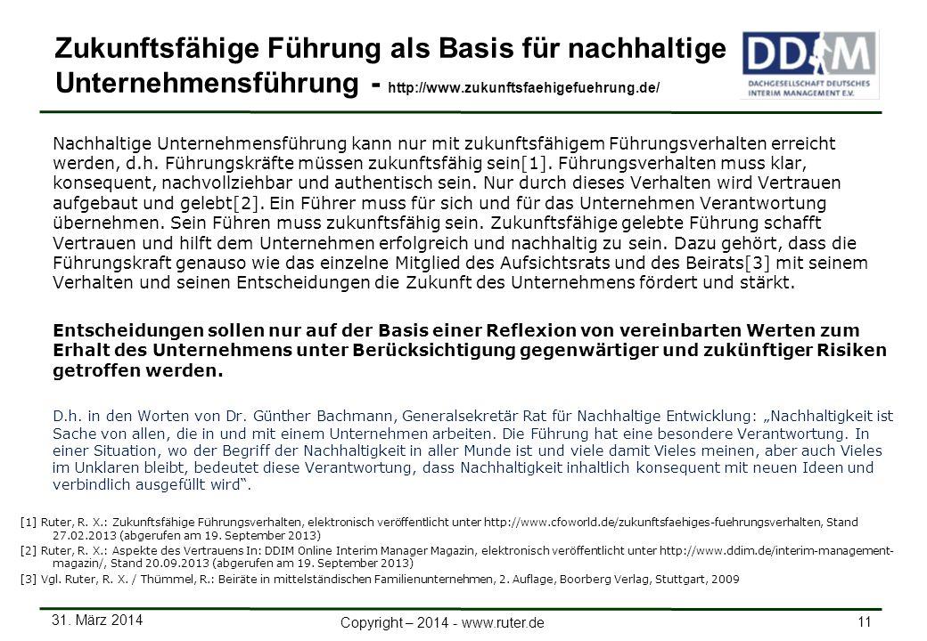 Zukunftsfähige Führung als Basis für nachhaltige Unternehmensführung - http://www.zukunftsfaehigefuehrung.de/