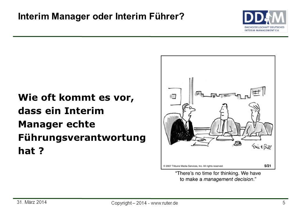 Interim Manager oder Interim Führer