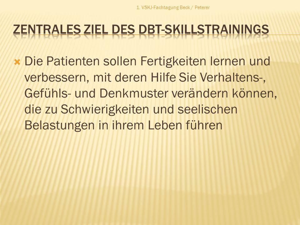 Zentrales Ziel des DBT-SKILLSTRAININGS