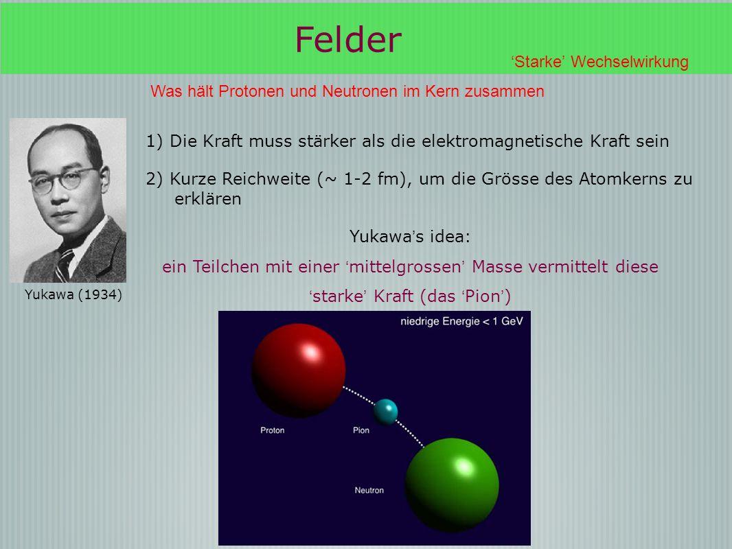 Felder 'Starke' Wechselwirkung