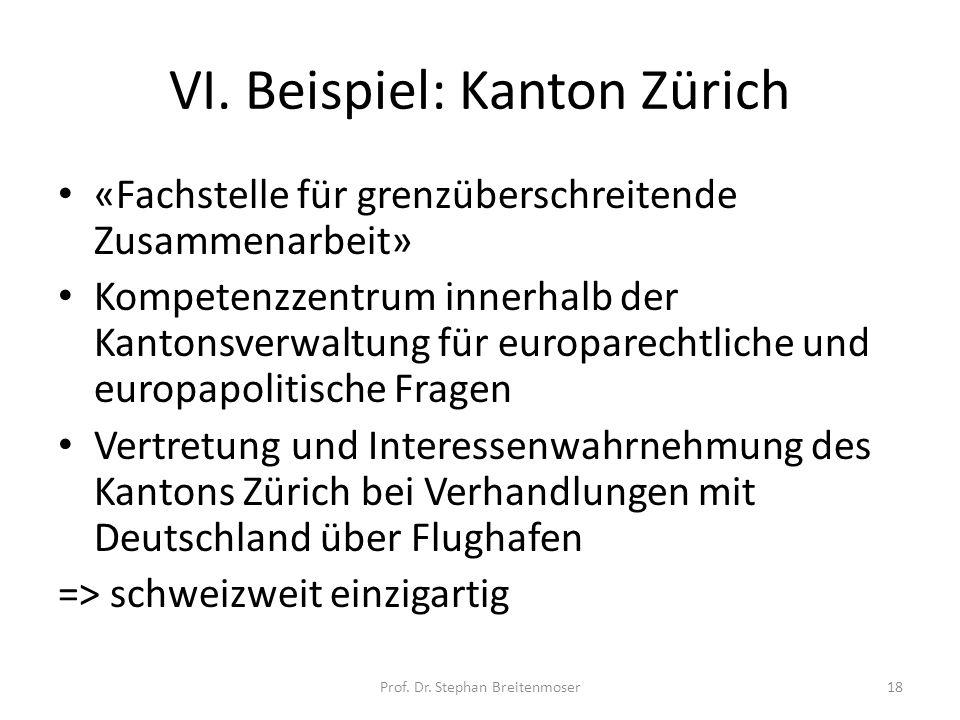 VI. Beispiel: Kanton Zürich