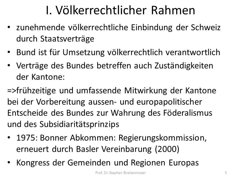 I. Völkerrechtlicher Rahmen