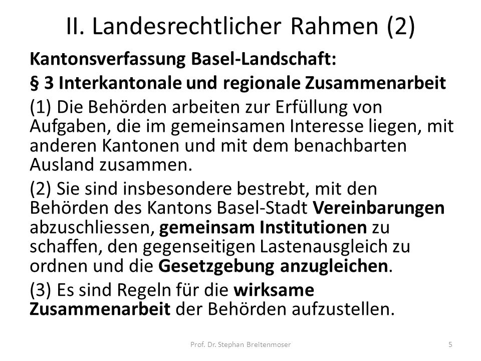 II. Landesrechtlicher Rahmen (2)