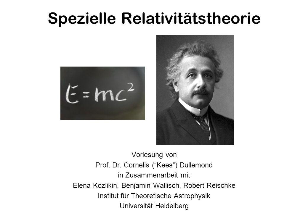 Spezielle Relativitätstheorie